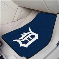 "Detroit Tigers 2-Piece Carpeted Car Mats 18""x27"""