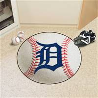 "Detroit Tigers Baseball Rug 29"" Diameter"
