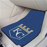 "Kansas City Royals 2-Piece Carpeted Car Mats 18""x27"""