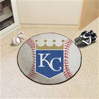 "Kansas City Royals Baseball Rug 29"" Diameter"