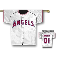 "Los Angeles (Anaheim) Angels Jersey Banner 34"" x 30"" - 2-Sided"