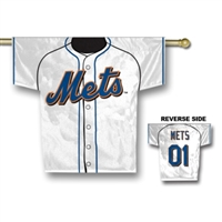 "New York Mets Jersey Banner 34"" x 30"" - 2-Sided"