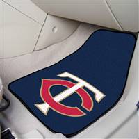 "Minnesota Twins 2-Piece Carpeted Car Mats 18""x27"""