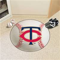 "Minnesota Twins Baseball Rug 29"" Diameter"