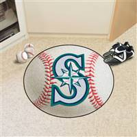 "Seattle Mariners Baseball Rug 29"" Diameter"