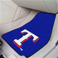 "Texas Rangers 2-Piece Carpeted Car Mats 18""x27"""