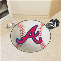 "Atlanta Braves Baseball Rug 29"" Diameter"