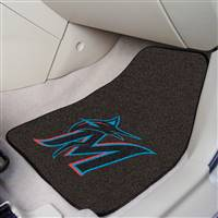 "Miami Marlins 2-Piece Carpeted Car Mats 18""x27"""