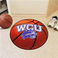 "Western Carolina (WCU) Catamounts Basketball Rug 29"" diameter"