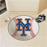 "New York Mets Baseball Rug 29"" Diameter"