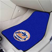 "New York Mets 2-Piece Carpeted Car Mats 18""x27"""