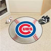"Chicago Cubs Baseball Rug 29"" Diameter"