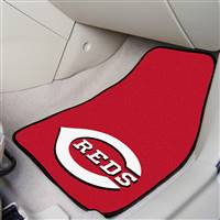 "Cincinnati Reds 2-Piece Carpeted Car Mats 18""x27"""