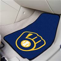 "Milwaukee Brewers 2-piece Carpeted Car Mats 18""x27"""