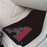 "Arizona Diamondbacks 2-Piece Carpeted Car Mats 18""x27"""
