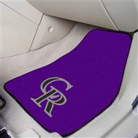 "Colorado Rockies 2-Piece Carpeted Car Mats 18""x27"""