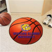 "Western Illinois Leathernecks Basketball Rug, 29"" Diameter"