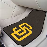 "San Diego Padres 2-Piece Carpeted Car Mats 18""x27"""
