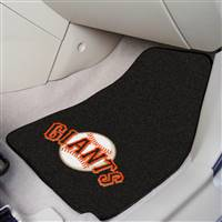 "San Francisco Giants 2-Piece Carpeted Car Mats 18""x27"""