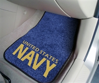 "U.S. Navy 2-piece Carpeted Car Mats 18""x27"""