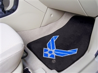 "U.S. Air Force 2-piece Carpeted Car Mats 18""x27"""