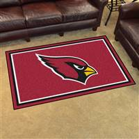 "Arizona Cardinals 4x6 Area Rug 46""x72"""