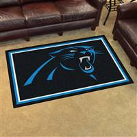 "Carolina Panthers 4x6 Area Rug 46""x72"""