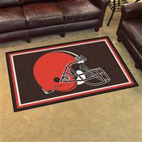 "Cleveland Browns 4x6 Area Rug 46""x72"""