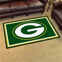 "Green Bay Packers 4x6 Area Rug 46""x72"""