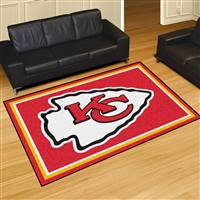 "Kansas City Chiefs 5x8 Area Rug 60""x92"""
