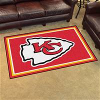 "Kansas City Chiefs 4x6 Area Rug 46""x72"""