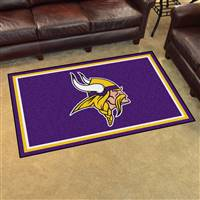 "Minnesota Vikings 4x6 Area Rug 46""x72"""