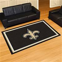 "New Orleans Saints 5x8 Area Rug 60""x92"""