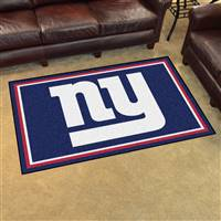 "New York Giants 4x6 Area Rug 46""x72"""
