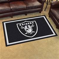 "Oakland Raiders 4x6 Area Rug 46""x72"""