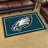 "Philadelphia Eagles 4x6 Area Rug 46""x72"""