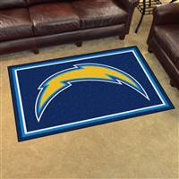 "San Diego Chargers 4x6 Area Rug 46""x72"""