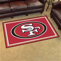 "San Francisco 49ers 4x6 Area Rug 46""x72"""