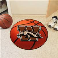 "Western Michigan University Basketball Mat 27"" diameter"