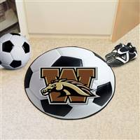 "Western Michigan University Soccer Ball Mat 27"" diameter"