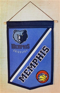 Memphis Grizzlies Traditions Mid-Size Wool Banner