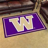 "Washington Huskies 4x6 Area Rug 46""x72"""