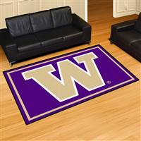 "Washington Huskies 5x8 Area Rug 60""x92"""