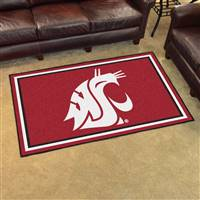 "Washington State Cougars 4x6 Area Rug 46""x72"""