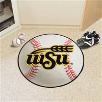 "Wichita State Shockers Baseball Rug 29"" Diameter"