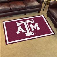 "Texas A&M Aggies 4x6 Area Rug 46""x72"""