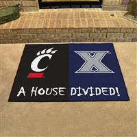 "House Divided - Xavier / Cincinnati House Divided Mat 33.75""x42.5"""