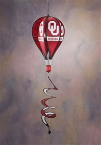 Oklahoma Sooners Hot Air Balloon Spinner