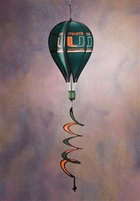 Miami Hurricanes Hot Air Balloon Spinner