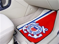 "US Coast Guard 2-piece Carpeted Car Mats 18""x27"""